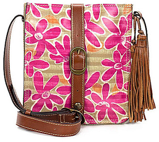 Patricia Nash Striped Daisy Collection Venezia Tasseled Cross-Body Bag $99 thestylecure.com