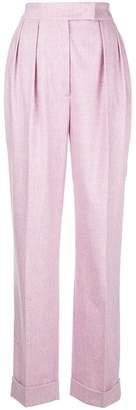 Agnona side stripe wide leg trousers