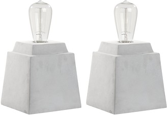 Safavieh Concrete Table Lamp 2-piece Set