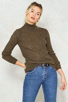 Nasty Gal Knit So Fast Mock Sweater