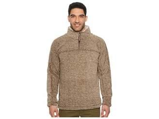 True Grit Luxe Melange Shearling 1/4 Zip Pullover
