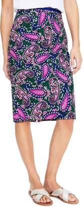 Boden Modern Paisley Stretch Cotton Pencil Skirt