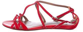 Tabitha Simmons Suede Ankle Strap Sandals Red Suede Ankle Strap Sandals