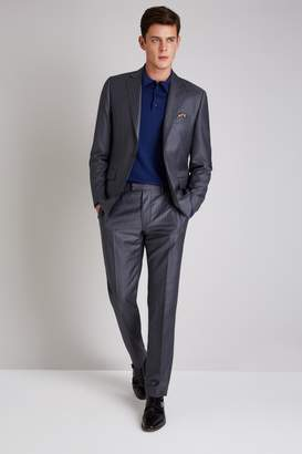 Ermenegildo Zegna Cloth Tailored Fit Grey Broken Stripe Jacket