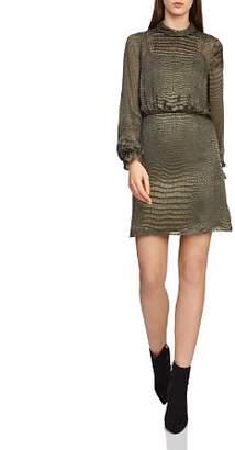 Reiss Renata Snakeskin Burnout Dress