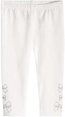 First Impressions Baby Girls Bow Border Leggings, Created for Macy's