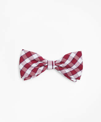 Brooks Brothers Boys Check Pre-Tied Bow Tie