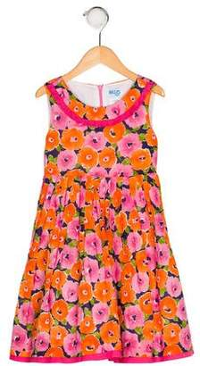 Luli & Me Girls' Floral Print Dress