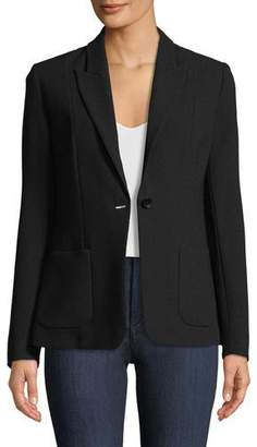 Elie Tahari Wendy One-Button Blazer Jacket