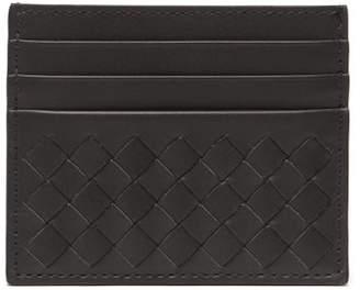 Bottega Veneta Increcciato Woven Leather Cardholder - Mens - Grey