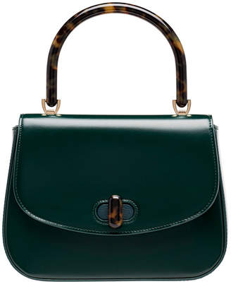 Edie Parker Mini Calf Box Top Handle Bag