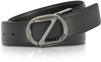Ermenegildo Zegna Black Smooth Leather Adjustable Belt