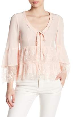 Nanette Lepore Virginia Silk Lace Blouse