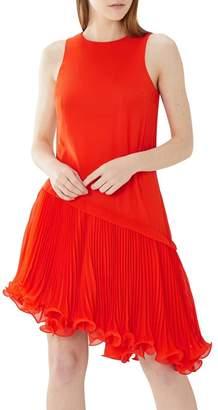 Coast Orange 'Peyton' Pleated Wire Hem Dress