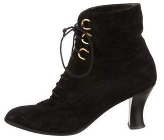 beb1a844bf9ee Gucci Black Suede Ankle Women s Boots - ShopStyle