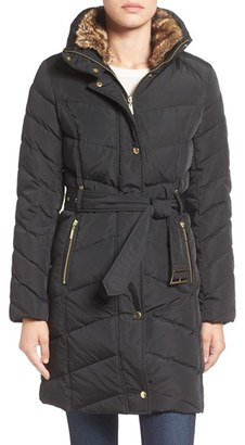 Women's Cole Haan Water Repellent Quilted Walking Coat $400 thestylecure.com