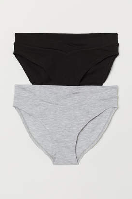 H&M MAMA 2-pack Jersey Briefs - Gray