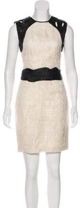 Yigal Azrouel Silk-Blend Mini Dress