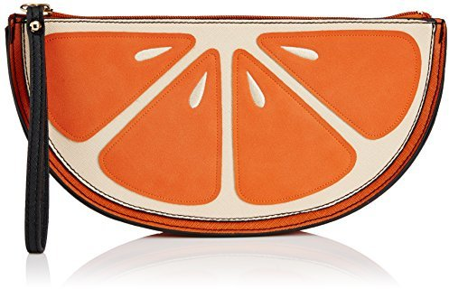 New Look Womens Orange Fruit Clutch