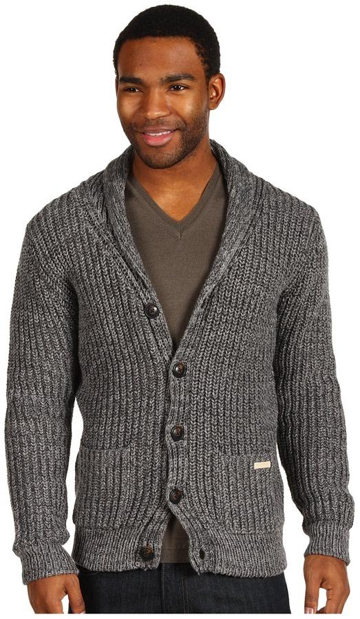 Scotch & Soda Shawl Collar Knit Cardigan (Grey Melange) - Apparel