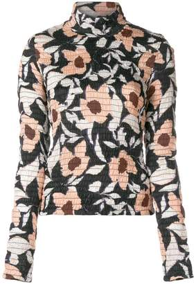 Christian Wijnants gathered floral print top