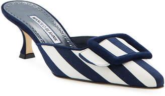 78bd7093d9fc Manolo Blahnik Blue Mules   Clogs - ShopStyle