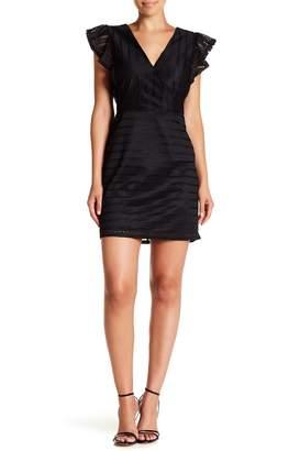 J.o.a. Lace Ruffled Cap Sleeve Dress