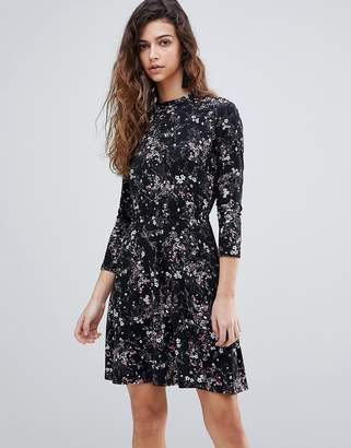 Warehouse Ditsy Floral Print Skater Dress