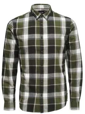 ONLY & SONS Checkered Button-Front Shirt