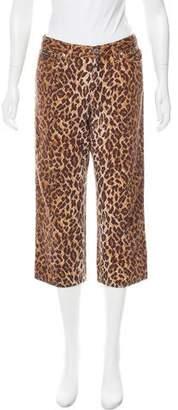 Dolce & Gabbana Leopard Print Mid-Rise Jeans