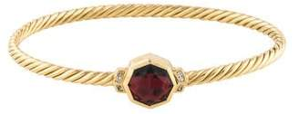 David Yurman 18K Garnet & Diamond Guilin Octagon Bracelet