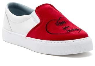 Chiara Ferragni Velvet Slip-On Sneaker