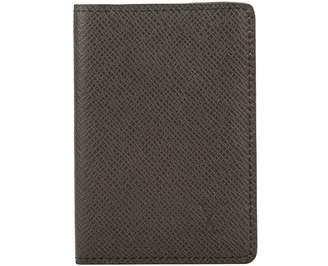 Louis Vuitton Noir Taiga Leather Pocket Organiser (Pre Owned)
