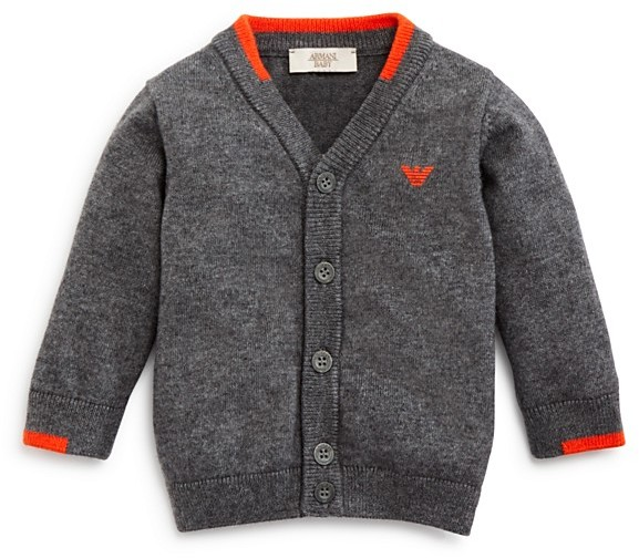 Armani Junior Armani Boys' Color Tipped Cardigan Sweater - Sizes 12-36 Months