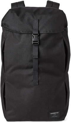 SANDQVIST Black Flap Top Backpack