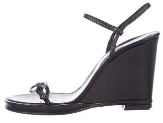 Opening Ceremony Leather Wedge Sandals