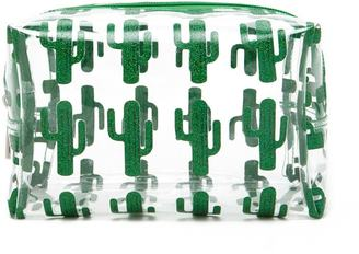 FOREVER 21+ Glitter Cactus Print Makeup Bag
