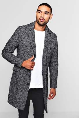 boohoo Wool Blend Fabric Overcoat