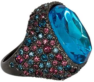 Kenneth Jay Lane Sapphire And Aqua Ring