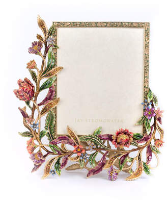 "Jay Strongwater Regina Floral & Vine Picture Frame, 8"" x 10"""