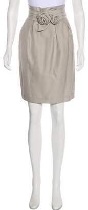 3.1 Phillip Lim Knee-Length Floral-Appliqué Skirt