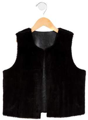 Imoga Girls' Open Front Faux Fur Vest