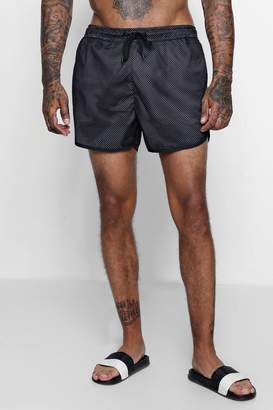 boohoo Runner Swim Shorts With Mesh Panel