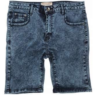 Brave Soul Mens Fullerton Slim Fit Acid Washed Shorts (S)
