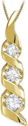 Sirena 1/8 CT. Diamond 14K Yellow Gold Pendant Necklace