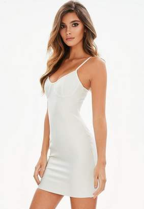 Missguided Petite White Bandage Bustcup Bodycon Dress
