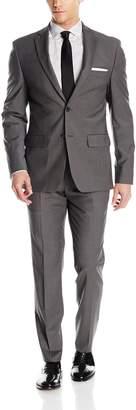 DKNY Men's Two Button Slim Fit Stretch Suit