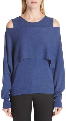 Fuzzi Layered Cold Shoulder Sweater