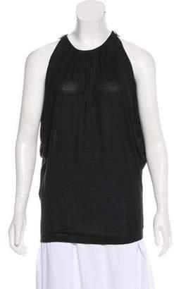 Fendi Cashmere-Blend Sleeveless Top