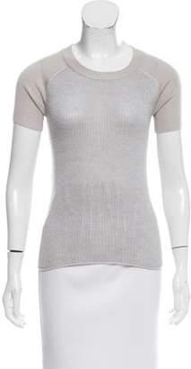 Reed Krakoff Short Sleeve Wool Sweater